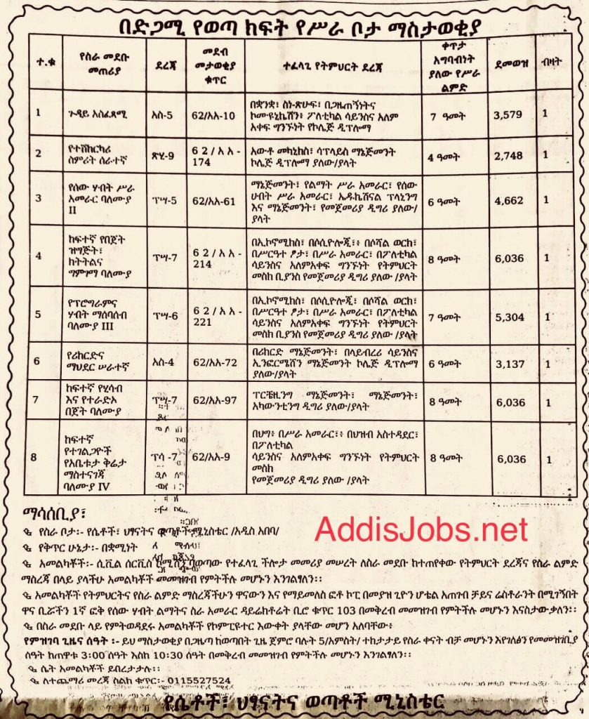 new ethiojobs in addis ababa